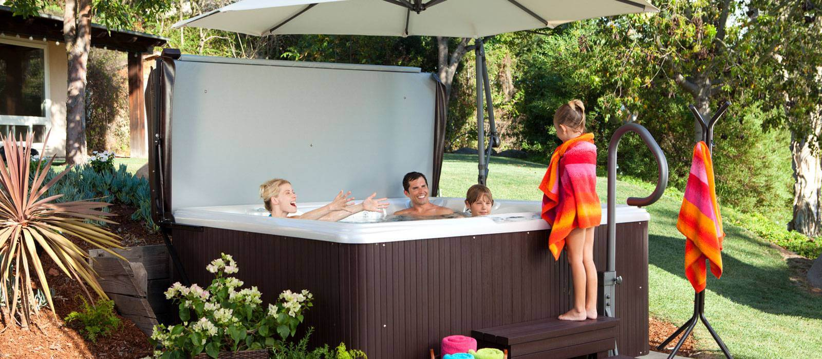 Backyard Hot Tub Ideas turn your ordinary hot tub into a backyard garden retreat with the installation of an enclosed gazebo also known as a gazebo shed or hideaway retr Gallery Garden Spas Pool Free Standing Hot Tub
